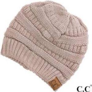 CC Boutique Women's Khaki Slouchy Knit Beanie